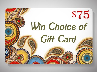 Win Your Choice of $75 USD Gift Card or PayPal (Worldwide) - Ends June 5th